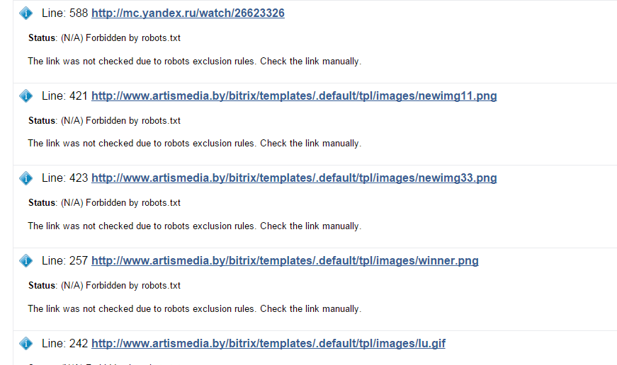 FireShot Capture - W3C Link Checker_ http___artismedia.by__ - http___validator.w3.org_checklink