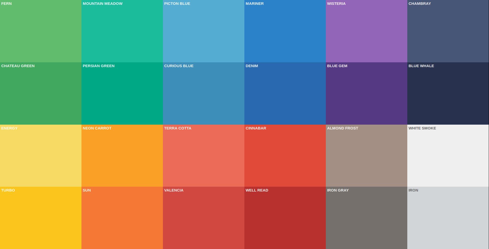 Красивые цвета для дизайна